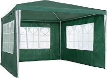 Garten Pavillon 3x3m mit 3 Seitenteilen - grün