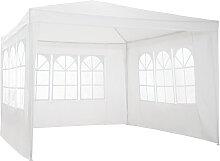 Garten Pavillon 3x3m mit 3 Seitenteilen - weiß