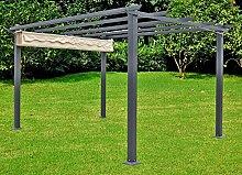 Garten Pavillon Terrasse Überdachung Sonnendach Markise Sonnenschutz Möbel