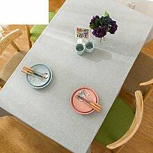 Garten Pure Color Wasserdicht Tischtuch,Quadratische Tischdecke,Family Art Rechteckige Tabelle Tuch-H 130x130cm(51x51inch)