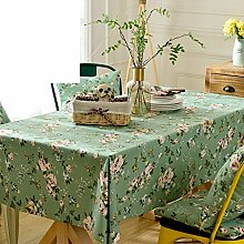 Garten Rose Blumen Tisch Tuch,Cute Little Frisch Living Zimmer Tisch Rechteckig Tuch-A 135x200cm(53x79inch)