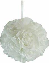 Garten Rose, weiß–15,2cm Duftkugel