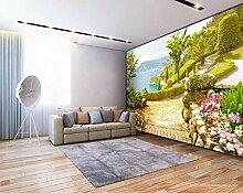 Garten Seeblick 3d Hintergrund Tapete-400 * 280cm
