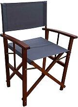 Garten Sessel in Gra Webstoff Eukalyptusholz