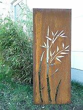 Garten Sichtschutz aus Metall Rost Gartenzaun