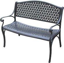 Garten Sitzbank aus Alu Armlehnen