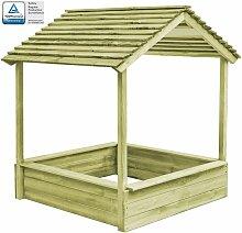 Garten-Spielhaus mit Sandkasten 128 - Hommoo
