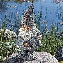 Garten-Statue Römischer Zwerg mit Kessel