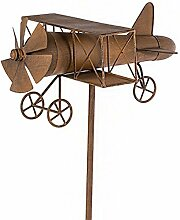 Garten-Stecker Flugzeug in Rostoptik Gartendeko