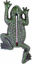 Garten Thermometer Grüner Frosch aus Gusseisen