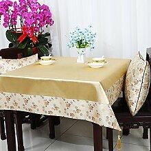 Garten Tisch Läufer Tischdecke,Stuhl Abdeckung Stoff Tabelle Tuch Tischdecke,Table Runner Stoff Tischdecke Tischtuch Tischdecke-O 90x90cm(35x35inch)