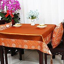 Garten Tisch Läufer Tischdecke,Stuhl Abdeckung Stoff Tabelle Tuch Tischdecke,Table Runner Stoff Tischdecke Tischtuch Tischdecke-Q 110x110cm(43x43inch)