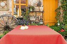 Garten-Tischdecke ABWASCHBAR mit Acryl und BLEIBAND, Form und Größe sowie Farbe wählbar, Maße: 160x180 cm Eckig bordeaux Oslo