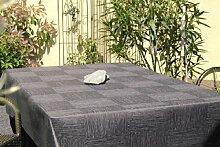 Garten-Tischdecke ABWASCHBAR mit Acryl und BLEIBAND, Form und Größe sowie Farbe wählbar, Maße: 130x130 cm Eckig anthrazit-grau New York