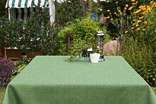 Garten-Tischdecke ABWASCHBAR mit Acryl und BLEIBAND, Form und Größe sowie Farbe wählbar, Maße: 130x130 cm Eckig grün Oslo