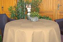 Garten-Tischdecke ABWASCHBAR mit Acryl und BLEIBAND, Form und Größe sowie Farbe wählbar, Maße: 110x130 cm Oval cappuccino-braun New York