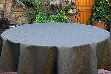 Garten-Tischdecke ABWASCHBAR mit Acryl und BLEIBAND, Form und Größe sowie Farbe wählbar, Maße: 130x220 cm Eckig anthrazit Leonardo