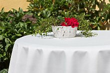 Garten-Tischdecke ABWASCHBAR mit Acryl und BLEIBAND, Form und Größe sowie Farbe wählbar, Maße: 100x140 cm Oval crem-weiß Oslo