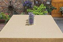 Garten-Tischdecke ABWASCHBAR mit Acryl und BLEIBAND, Form und Größe sowie Farbe wählbar, Maße: 110x110 cm Eckig sand-beige Leonardo