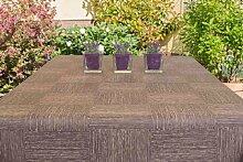 Garten-Tischdecke ABWASCHBAR mit Acryl und BLEIBAND, Form und Größe sowie Farbe wählbar, Maße: 140x180 cm Eckig schoko-braun New York