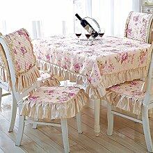Garten Tischdecke/ mat/Tischdecke decke/ rechteckige Tischdecke und idyllische kleine floral Tischdecke Stoff/Tischdecke decke/Matte/ Stuhl-A 130x130cm(51x51inch)