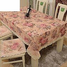 Garten-Tischdecke/Tischdecke decke/Tischdecken/Round Table Spitze Couchtisch Abdeckung Handtuch/Spitzen Tischdecke-B 140x180cm(55x71inch)