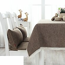 Garten-Tischdecke/Volltonfarbe Leinen Baumwolle Tischdecke/Tischdecke decke/Tischdecken/ Coffee Table Servietten-A 100x100cm(39x39inch)