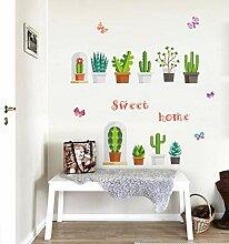 Garten Topfpflanzen Kaktus Wandaufkleber für