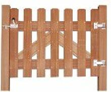 Garten Tor Beschlag Set aus V2A Edelstahl inklusive Bänder, Türöffner und Montagematerial für Gartenzäune