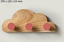 Garten Wandbehang Kleiderbügel Schlafzimmer Kreative Haushalt Kleiderbügel Kleine Haken Kinder Zimmer Wolke Form ( Farbe : Pink , größe : 30cm )