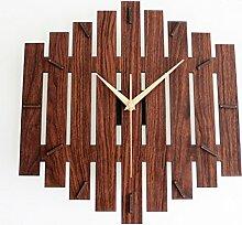 Garten-wanduhr Simple wood clock Creative art wall dekoration clock-A