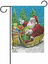 Garten Weihnachten Weihnachtsmann Reiten Rentier