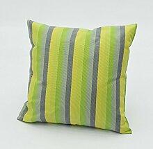 Garten wind mehr Farbe Streifen Kissen Baumwolle Sofa Kissenbezüge Kissen Kissenbezug-G 48x48cm(19x19inch)VersionA