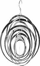 Garten Windspiel Kreis, Gartendeko, Moderne Gartenfigur Edelstahl Optik