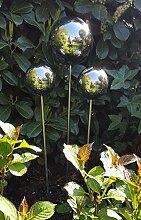 garten-wohnambiente Beetstecker Rosenkugel, 10 cm,