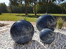 garten-wohnambiente Kugelbrunnen 30 cm Marmor blau