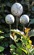 garten-wohnambiente Rosenkugel 10 cm Stab Granit