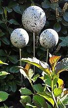 garten-wohnambiente Rosenkugel 15 cm Stab Granit