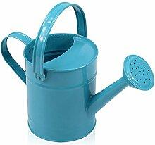 Gartenarbeit Gießkanne, Gießkanne Eisen Outdoor Garten Spray Topf Portable Gießkanne Gartenarbeit liefert Werkzeuge blau 1,5L ( Farbe : Blau )