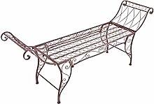 Gartenbank 156cm Eisen Rostoptik Antik Stil