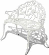 Gartenbank aus Aluminium Garten Living Farbe: Weiß
