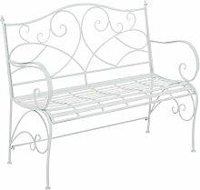 Gartenbank aus Eisen Lily Manor Farbe: Weiß antik