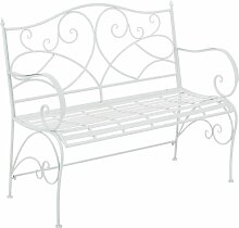 Gartenbank aus Eisen Lily Manor Farbe: Weiß