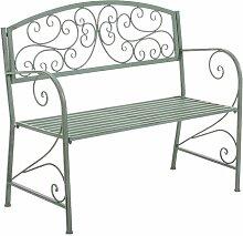 Gartenbank aus Metall Lily Manor Farbe: Grün antik