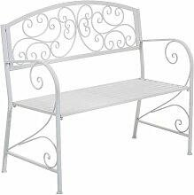 Gartenbank aus Metall Lily Manor Farbe: Weiß