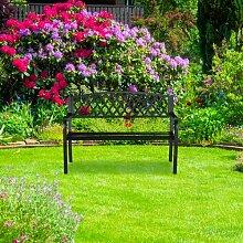 Gartenbank aus Stahl und Gusseisen Winnie Brambly
