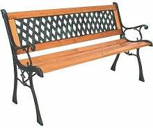 Gartenbank aus Windsor Metall und Hartholz,