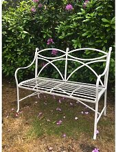 Gartenbank Claar aus Metall Lily Manor