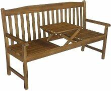 Gartenbank Colombo 3-Sitzer mit ausklappbarem Tisch Sitzbank Holzbank parkbank Bank Holz