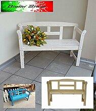 Gartenbank Friesenbank 2-Sitzer Holz 45 x 118 x 78